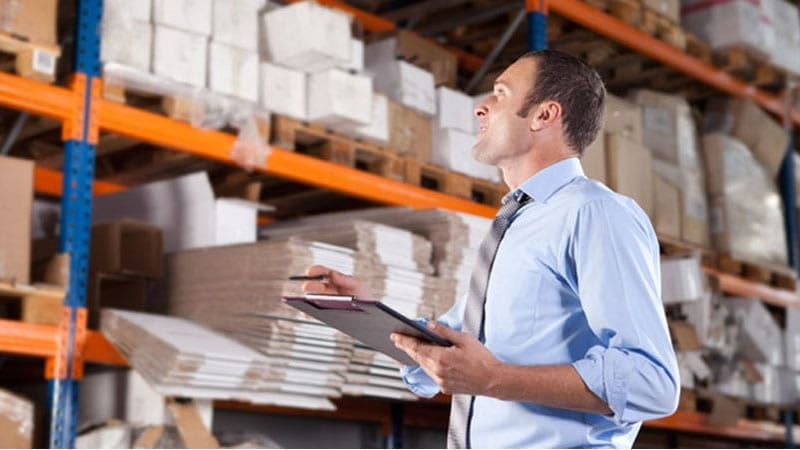 Man checking inventory - management greatly simplified