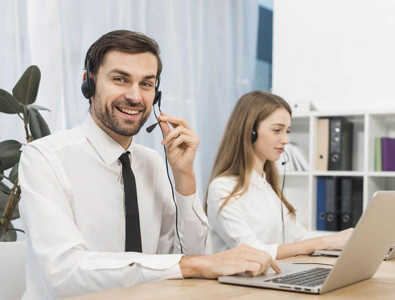 2 Support customer care representatives on the phone delivering friendly support services
