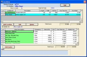 Job Estimator software for estimating cleaning and janitorial jobs