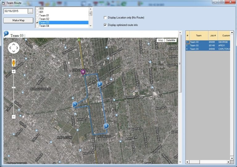 Routing and route optimization features available