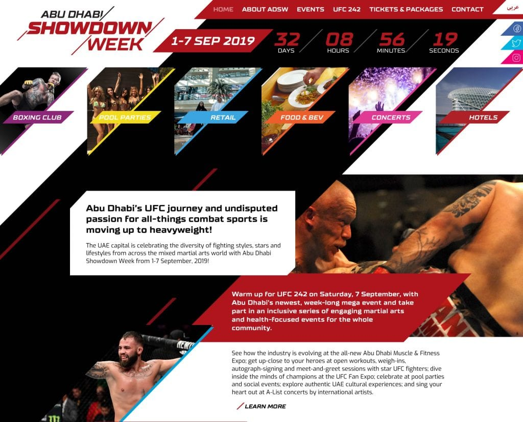 Freelance Web Designer Brisbane - Abu Dhabi Showdown Week